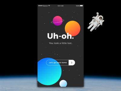 Daily UI — 008 008 button design interface error 404error 404 ux ui dailyui