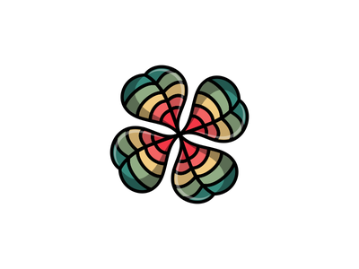 Here is our chance ! four leaf clover lucky chance