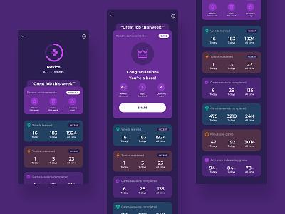 Learning stats stats statistics mobile app design ux ui