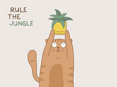 Rule the Jungle rule the jungle lion king jungle cat illustration