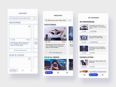 Mobile Learning App app design wireframing mobile design ux ui learning app