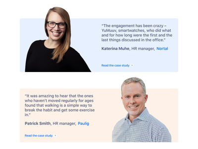 Testimonials for a landing page WIP wip ui ux design testimonials web design landing page