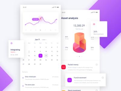 Daily UI --01 data statistics iphonex card bank ux mobile ui finance