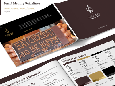 Brand guidelines, brand book, and brand manual for Chocolate product designs packaging designs brand manual brand book branding agency brand designer stylescape logo designs branding designs branding process brand guidelines