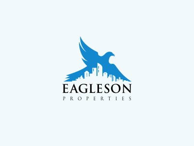 Eagleson Properties animal live logo apartment home realestate real estate properties eagle