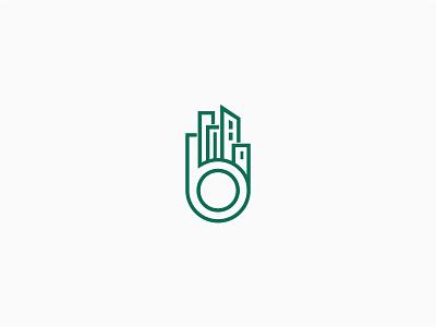 Boulevard invest logo developer real estate b-logo city software analytic property broker