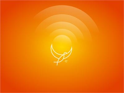 Break boundaries simple-logo minimalist-logo animal brand fly sun space sky bird eagle