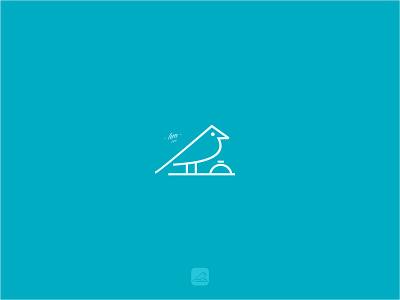 Hotel Booking logoanimal application monoline ticket booking bell simplelogo minimalistlogo bird room lodge hotel