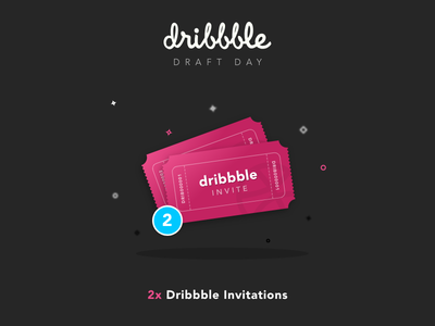 Two Dribbble Invites Giveaway (Closed) shot xd illustration dribbble invite design tickets draft giveaway portfolio invitation invites dribbble