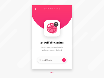 2x Dribbble Invites (closed) + Freebie shot adobe xd freebie dribbble invite design card draft giveaway portfolio invitation invites dribbble