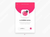 2x Dribbble Invites (closed) + Freebie