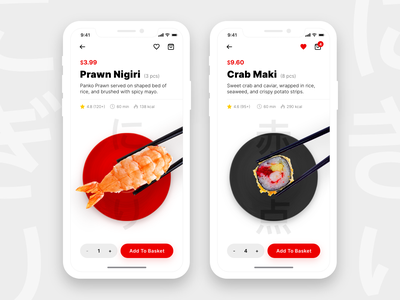 Sushi Restaurant App + Freebie vector design mobile uplabs freebie adobe xd minimal clean ios ui ux app restaurant sushi