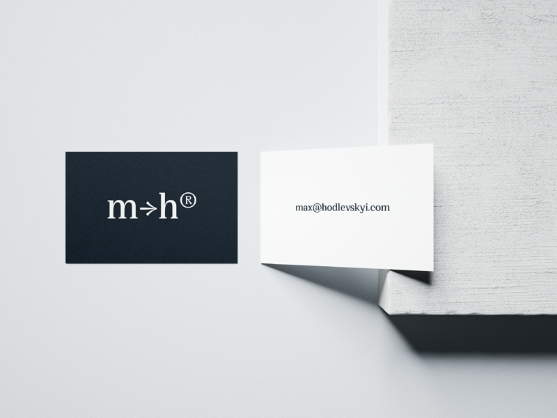 max→hodlevskyi® business card identity design logo logotype logotype design identity brand design brand black  white simple design typography logodesign personal branding business card design businesscard