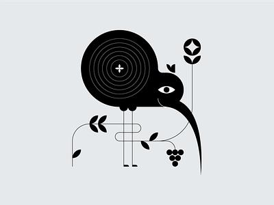 Kiwi illustrator symbol design icon design graphic design vector art animal bird illustration bird icon bird logo kiwi bird