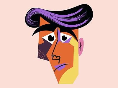 Fear face graphic  design art vector illustration man illustration portrait man vector illustration illustrator