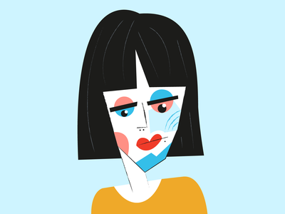 Eyes sadness girl portrait portrait illustration vector abstract character girl illustration girl graphic design eyes face