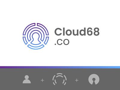 Cloud68.co open-source open source security logo security protection user cloud privacy logo design logo