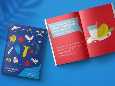Le Printemps de la Franchophonie en Albanie 2020 print francophonie publishing art direction matisse albania france graphic design illustration design illustration