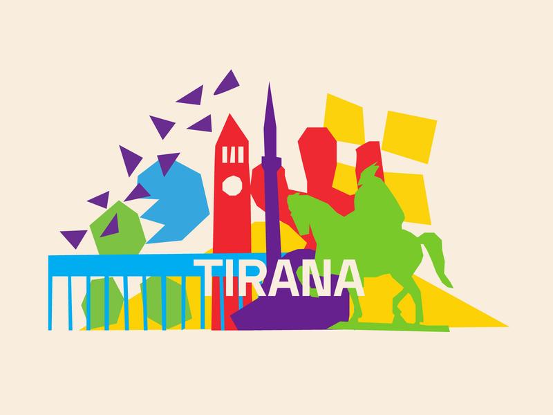Tirana 📌🌈 tirana matisse language illustrations illustration graphic design graphicdesign frenchie french francophonie design colors colorful albanie albania