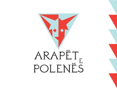 ARAPËT E POLENËS triangle geometric illustration graphicdesign graphic design logo design logo