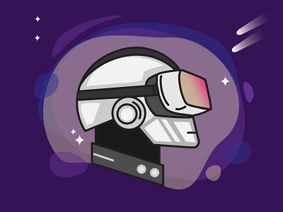 Solar Punk virtual reality vr punk solar music french touch electronic daftpunk daft punk digital art illustration design illustration