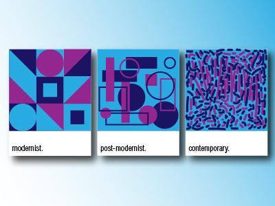 Art From 1900s & Today pantone pictogram contemporaryart postmodernism modernism illustration picture art