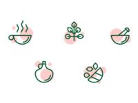 Icons for medicinal teas