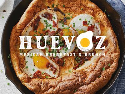 HUEVOZ Logo for a new gig in Tucson brand logotype logo breakfast eggs