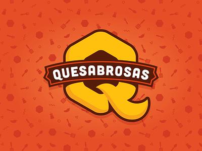 Quesabrosas mexico quesadillas logotype branding logo