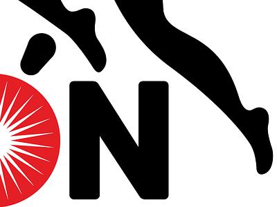 WIP hermosillo mexico bold sun event logotype logo running marathon