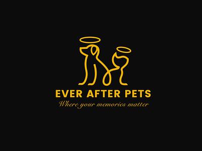 Ever After Pets Logo Design animals illustration yellow branding pets australia design logo
