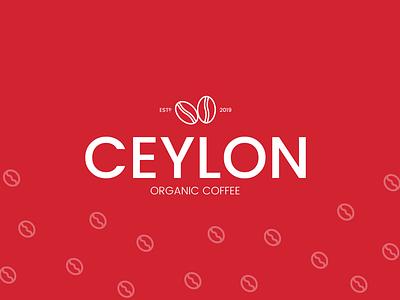 Ceylon Organic Coffee Logo Design organic vector illustration simple minimal branding logo design coffee sri lanka ceylon