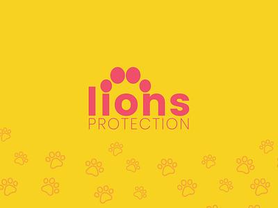 Lions Protection Foundation Logo lions africa australia branding illustration typography yellow design logo