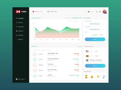 HSBC Banking Dashboard creative colorful beautiful web  design web product system money user interface ux design color concept portal banking hsbc daily ui dashboard design ux ui