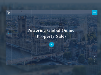 Property Sales Landing Page - Concept home page design web concept ux design property global sales ecommerce online london eye landing page web design ui design london branding ux ui