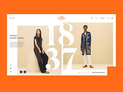 Hermès Landing Page luxury free ux ui orange branding web design famous clean design landing page ux design ui design paris french hermès