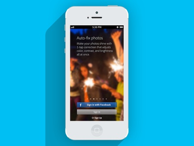 Project in progress mobile iphone lights blur app ui ios photo app