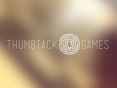 Logo mock for thumbtack games illustration vector logo branding icon identity clean fingerprint game thumbtack