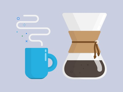 Coffee Break illustration coffee chemex icon flat vector caffeine