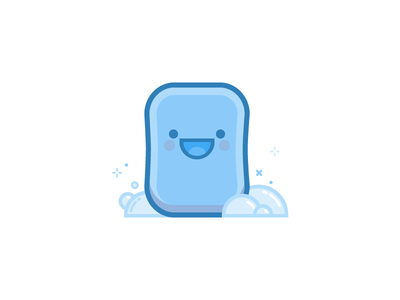 Squeaky Clean soap bubbles illustration character vector dropbox