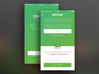 Zipongo log in