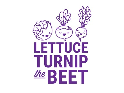 Lettuce Turnip the Beet cute beet turnip lettuce food icon vector illustration