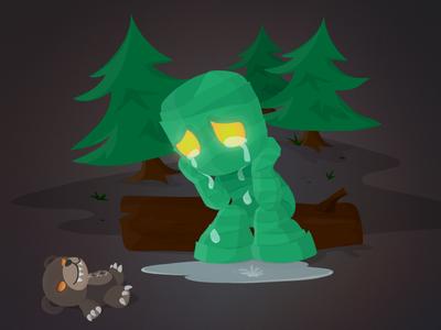 League of Legends Illustration debut illustration vector league of legends amumu tibbers forest woods
