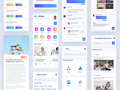 BWEye App communication agency clients gradients colorful monitoring app network communications reporting workers ios app design mobile app design mobile design clean ux ui