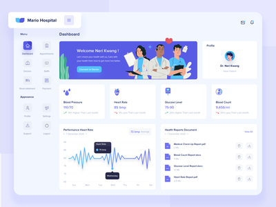Medical Dashboard medical dashboard nurse insurance app healthcare doctor app medical app dashboard design medical dashboard illustrations webdesign clean ux ui