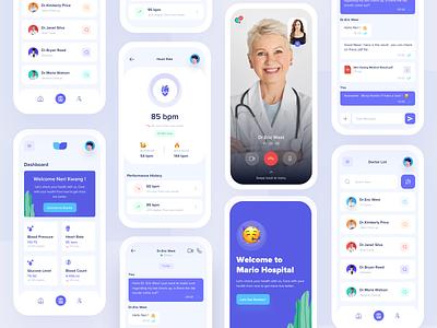 Medical App mobile app mobile design ios app design ux clean ui health consultations doctor app medical logo medical care health app hospital app healthcare health insurance nurse medical app