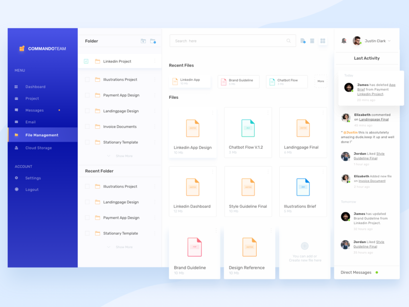 Dashboard - File Management typography development folder design folder folders file management file explorer file sharing file manager dashboard design website webdesign clean ux ui