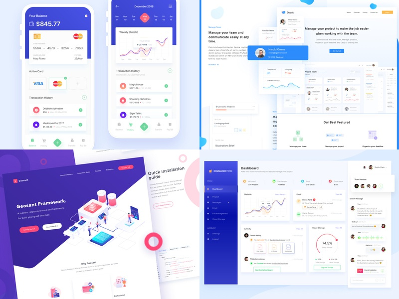 #Top4Shots on 2018 clean landing page dashboard design dashboard mobile app design mobile app web design 2018 trends top
