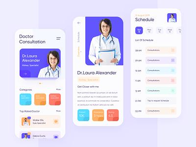Doctor Consultation App typography doctor app disease ios design specialist app ios minimalist design schedule consultation doctor design clean ux ui