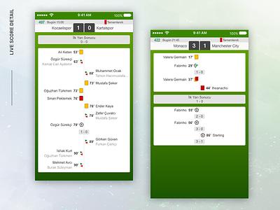 Live Score App design app mobile score live